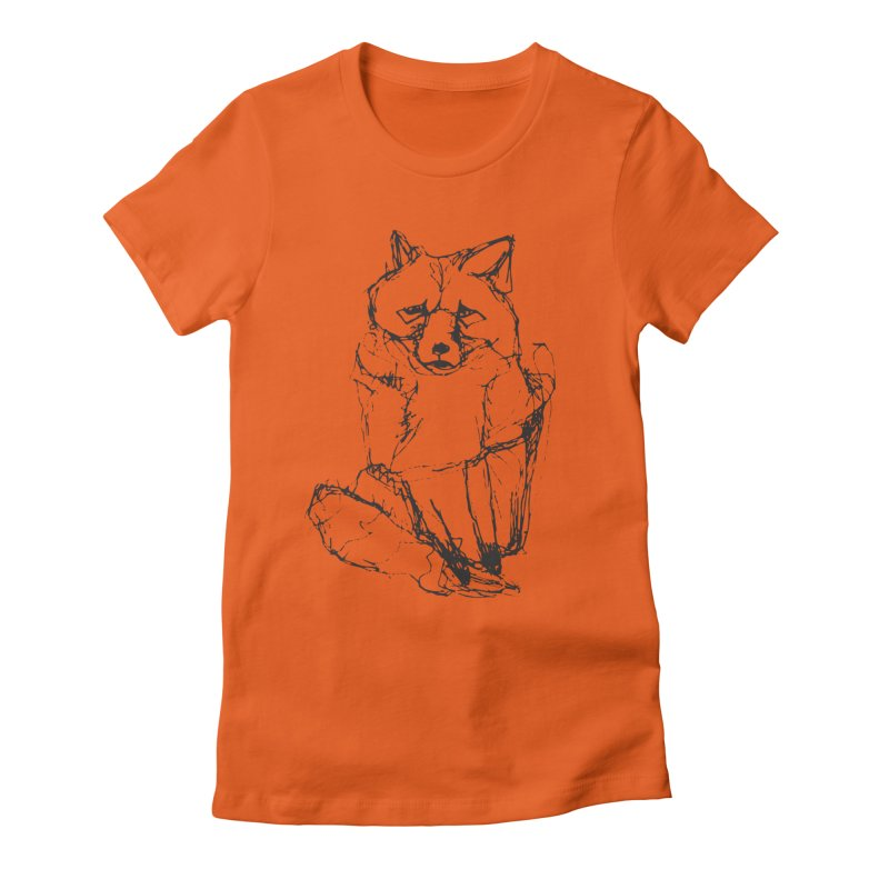 Fox tails Women's Fitted T-Shirt by eliseanna's Artist Shop