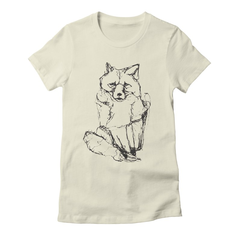 Fox tails Women's Fitted T-Shirt by eliseanna's Artist Shop