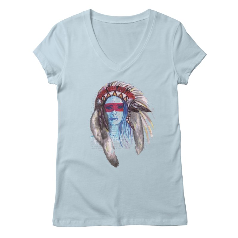 Lady of the night Women's V-Neck by eliseanna's Artist Shop
