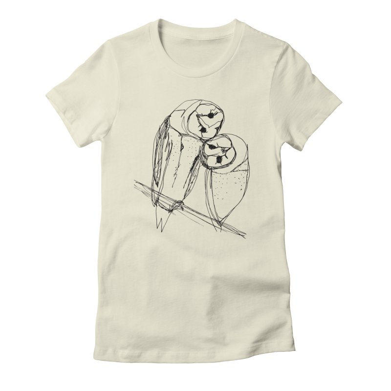 Friends of a feather Women's Fitted T-Shirt by eliseanna's Artist Shop