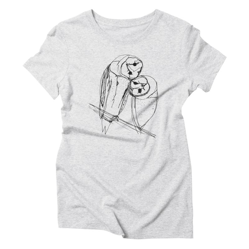 Friends of a feather Women's Triblend T-Shirt by eliseanna's Artist Shop