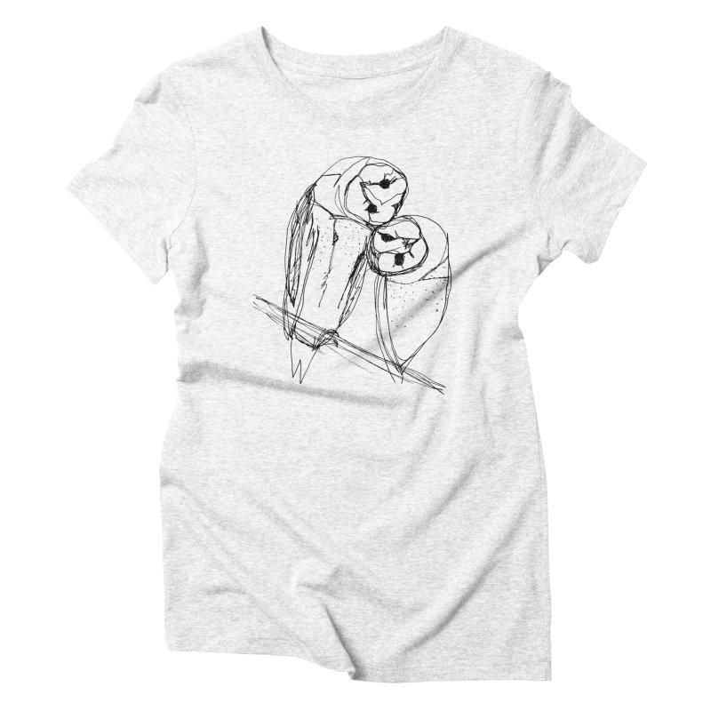 Friends of a feather Women's Triblend T-shirt by eliseanna's Artist Shop