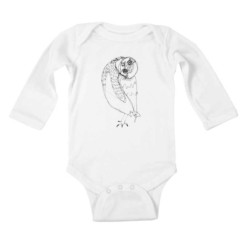 hey there Kids Baby Longsleeve Bodysuit by eliseanna's Artist Shop