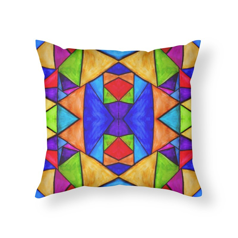 Stained Glass Home Throw Pillow by Eli Trier Artist's Shop