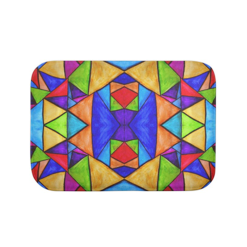 Stained Glass Home Bath Mat by Eli Trier Artist's Shop