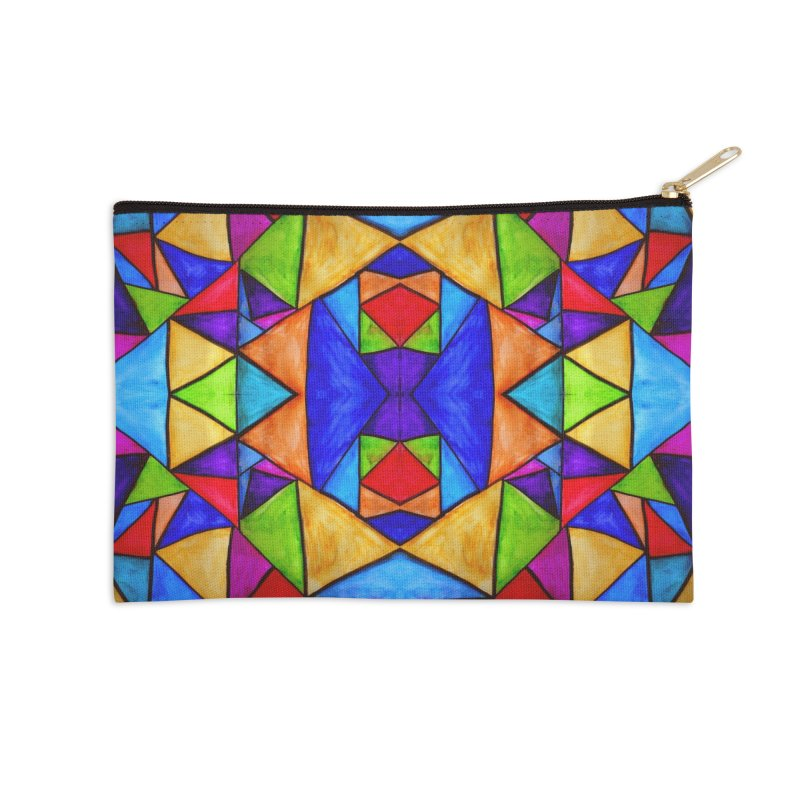Stained Glass Accessories Zip Pouch by Eli Trier Artist's Shop