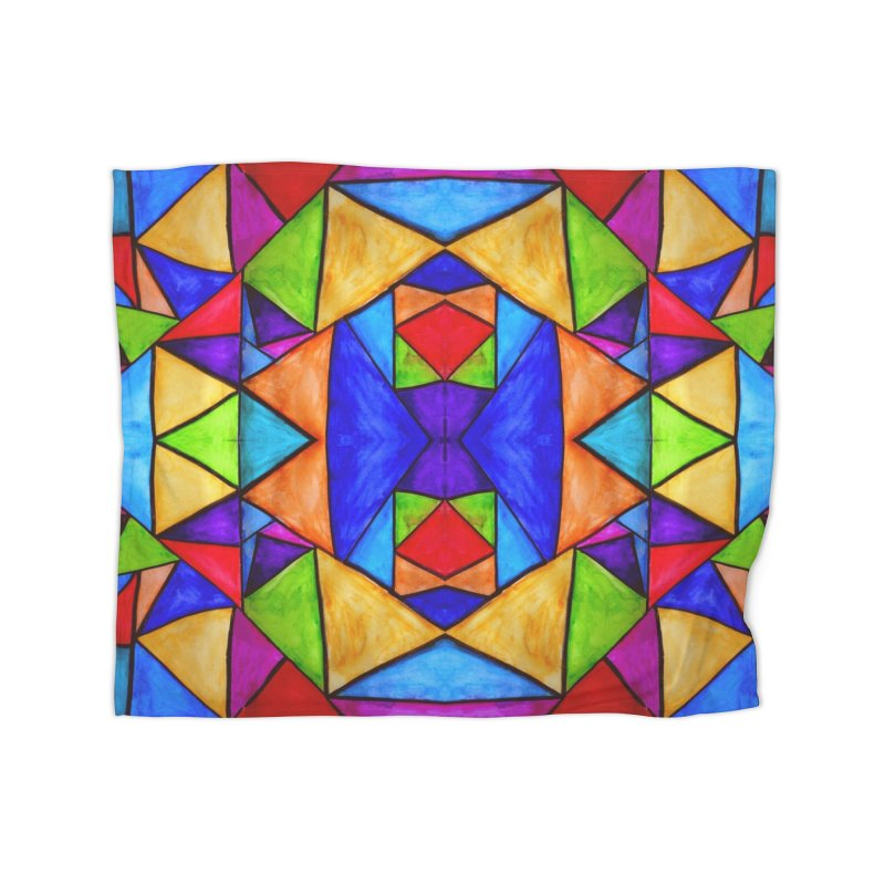 Stained Glass Home Blanket by Eli Trier Artist's Shop