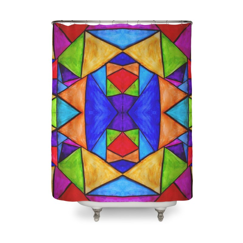 Stained Glass Home Shower Curtain by Eli Trier Artist's Shop