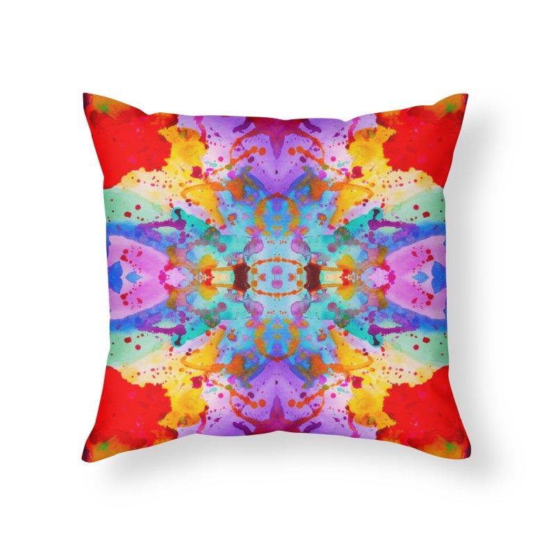 Rorschach Home Throw Pillow by Eli Trier Artist's Shop