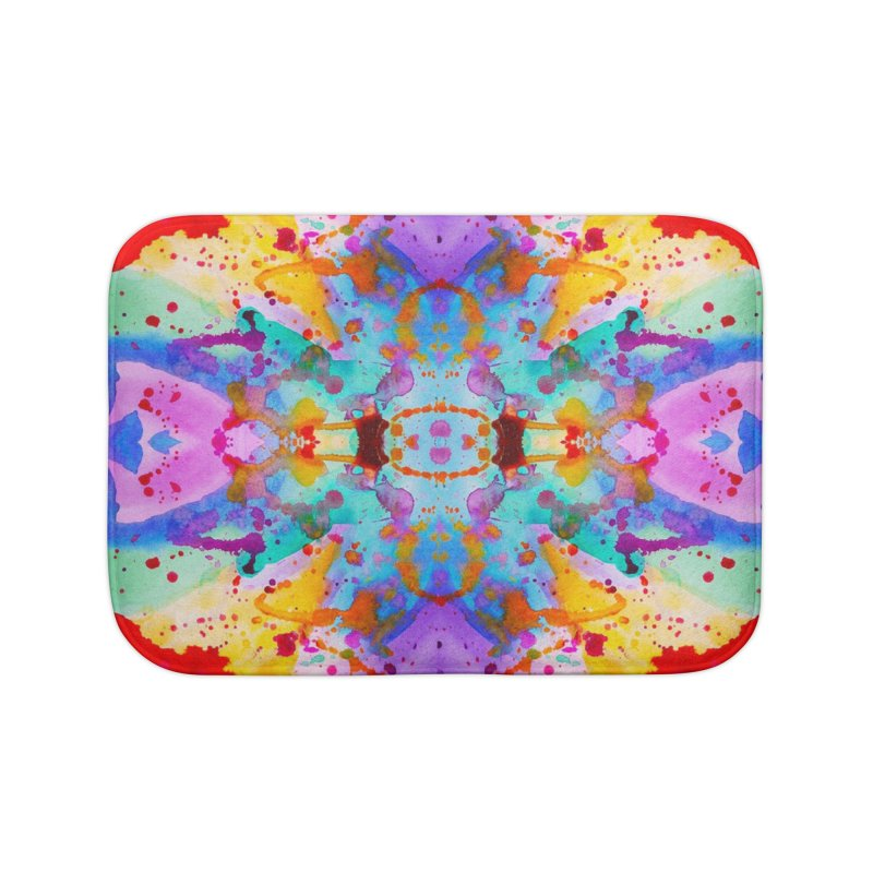 Rorschach Home Bath Mat by Eli Trier Artist's Shop