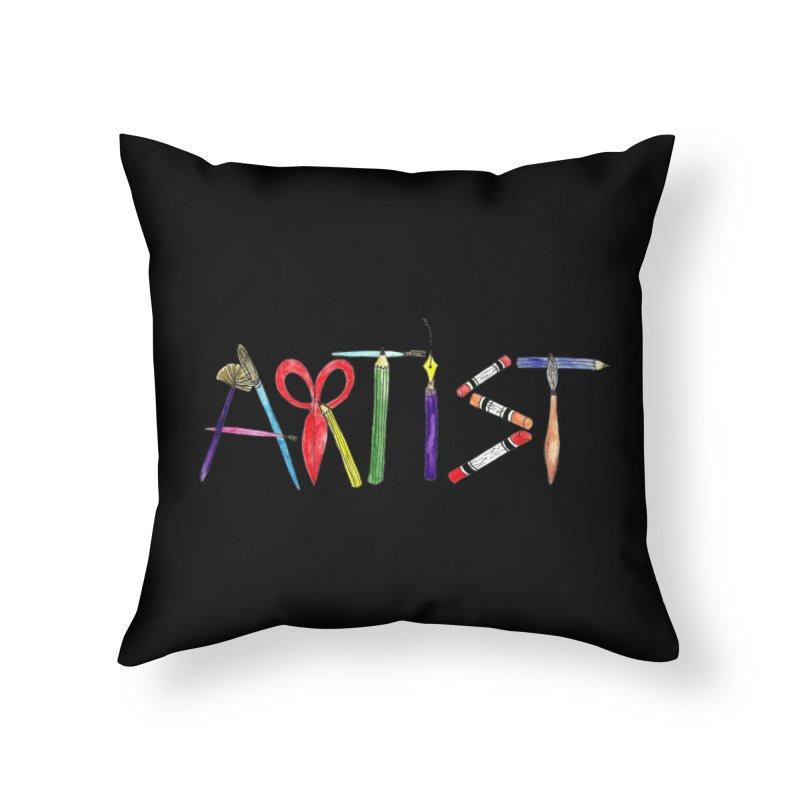 Artist (Black) Home Throw Pillow by Eli Trier Artist's Shop