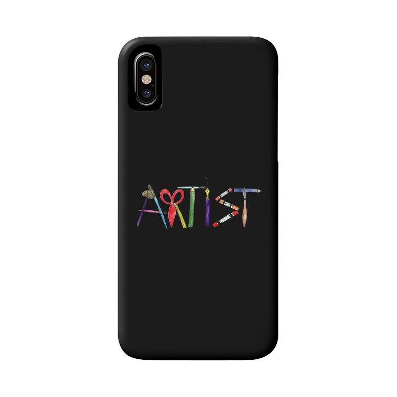 Artist (Black) Accessories Phone Case by Eli Trier Artist's Shop