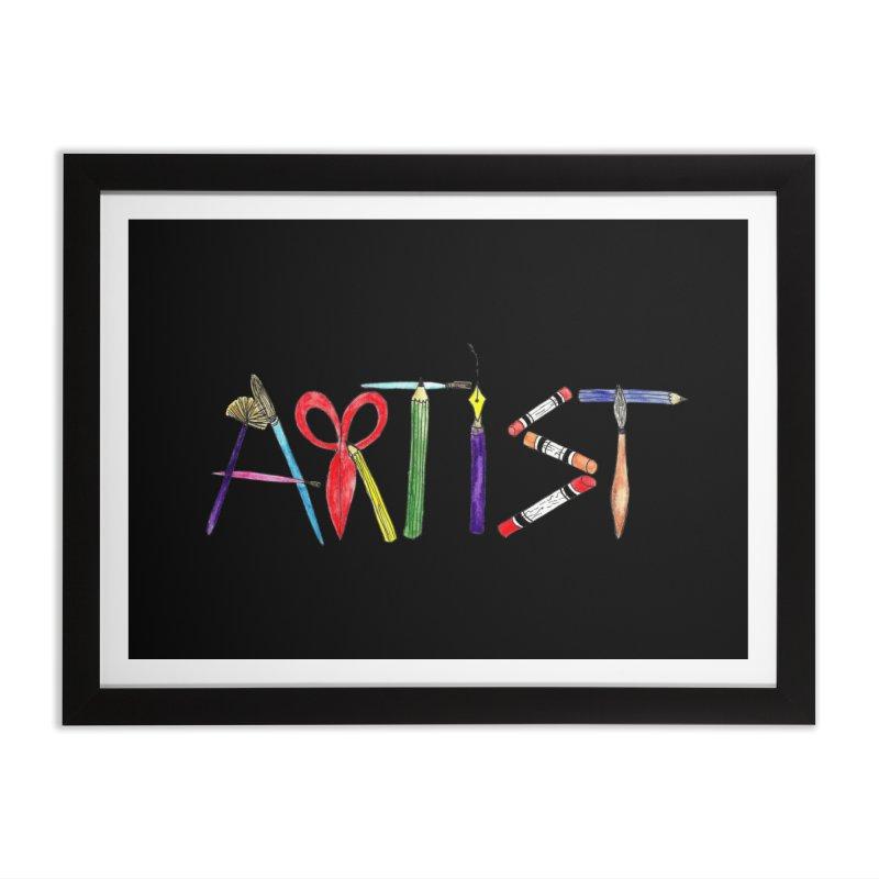 Artist (Black) Home Framed Fine Art Print by Eli Trier Artist's Shop