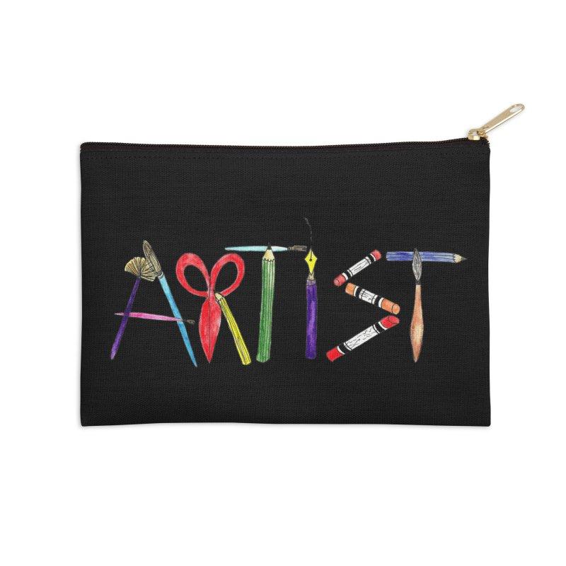 Artist (Black) Accessories Zip Pouch by Eli Trier Artist's Shop
