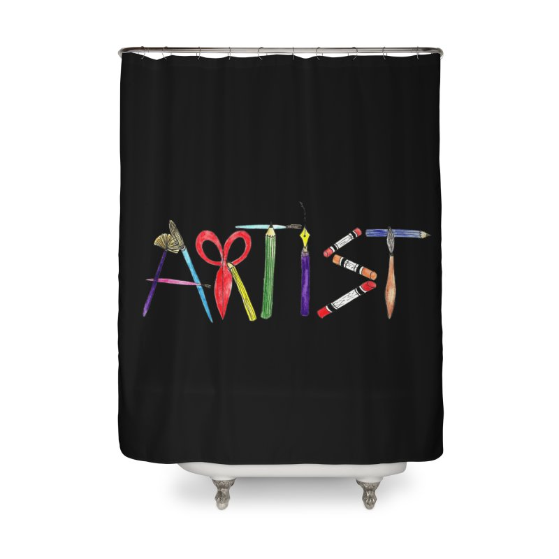 Artist (Black) Home Shower Curtain by Eli Trier Artist's Shop