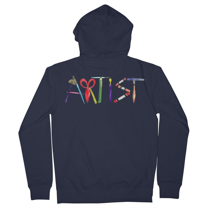 Artist  Women's Zip-Up Hoody by Eli Trier Artist's Shop