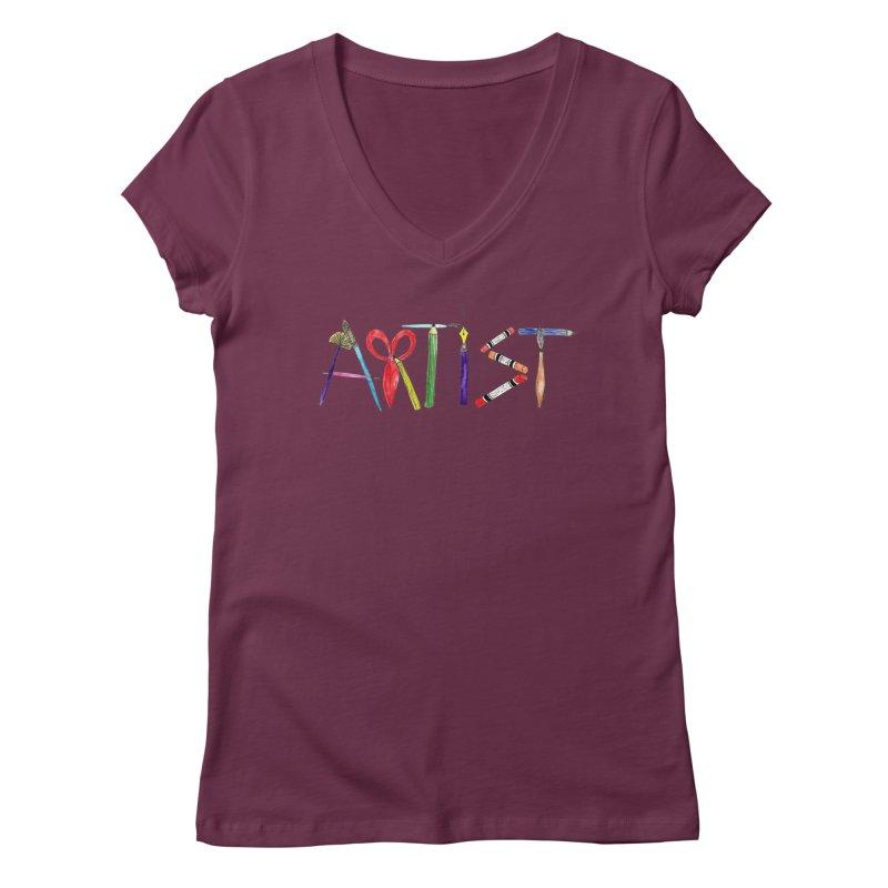 Artist  Women's V-Neck by Eli Trier Artist's Shop