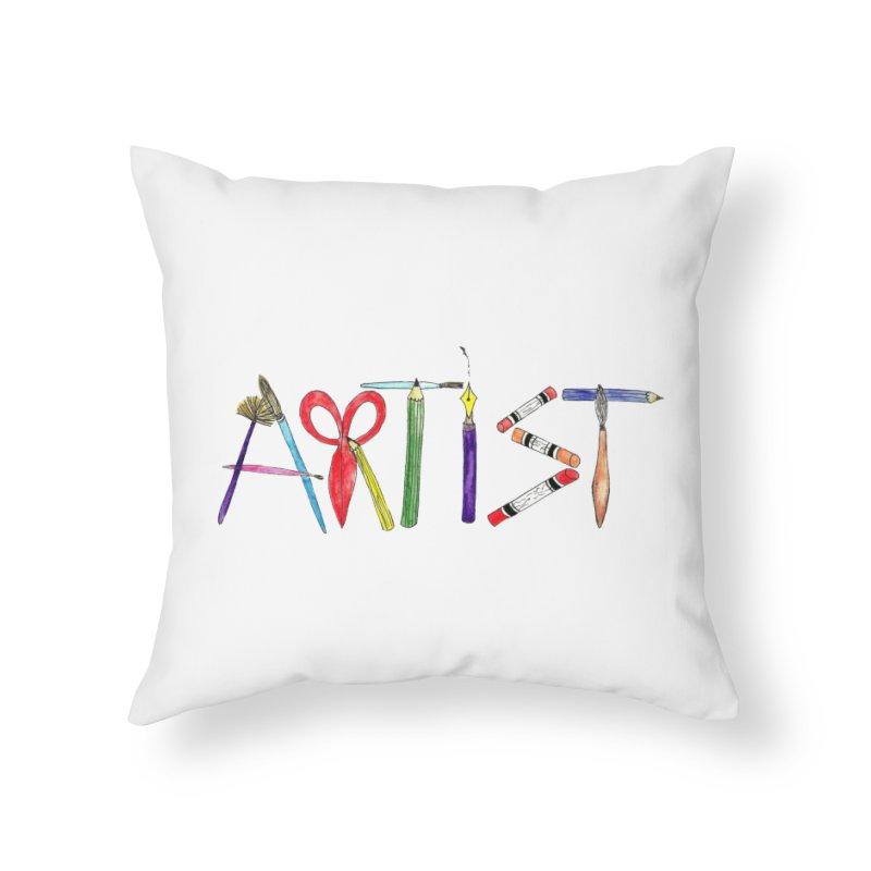 Artist  Home Throw Pillow by Eli Trier Artist's Shop