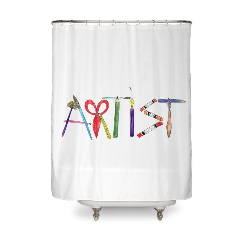 Artist  Home Shower Curtain by Eli Trier Artist's Shop