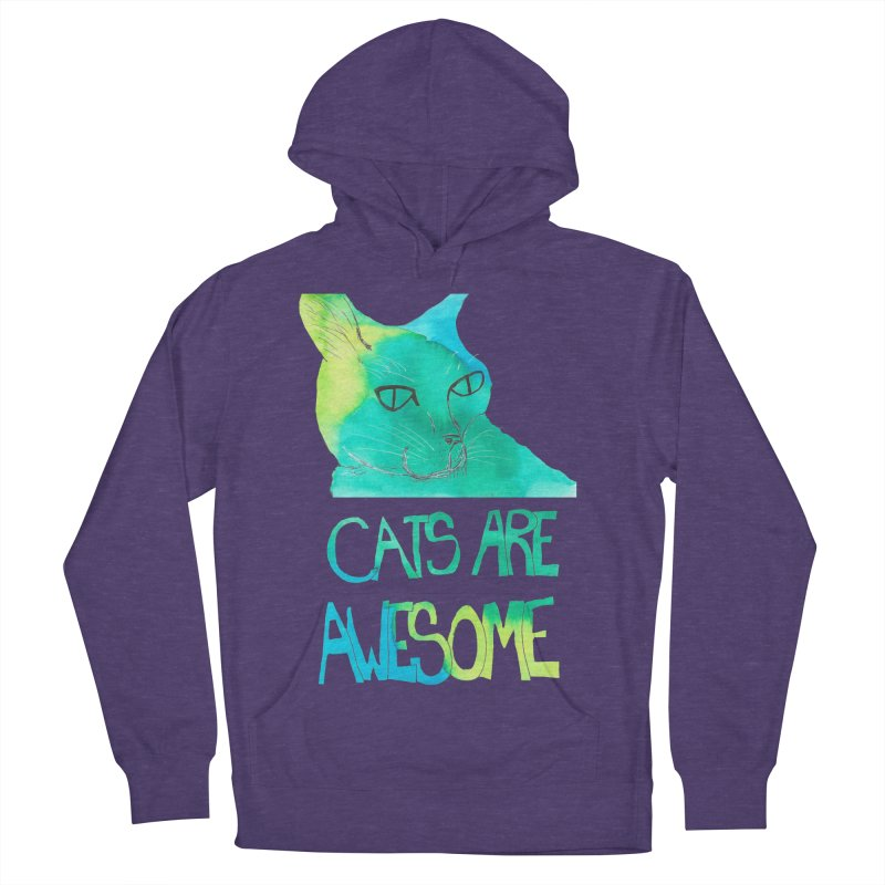 Cats Are Awesome Women's Pullover Hoody by Eli Trier Artist's Shop