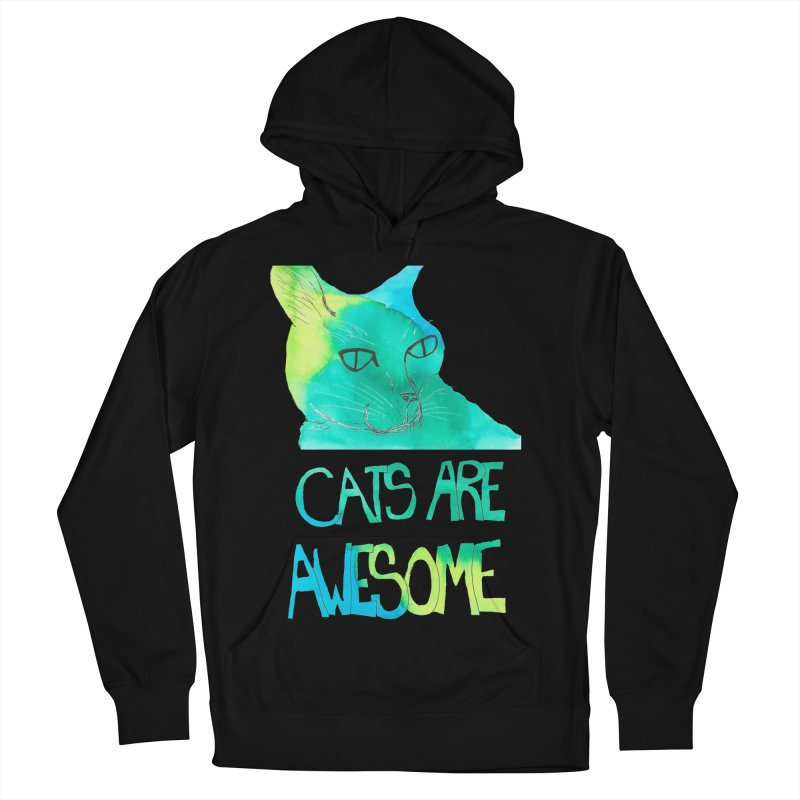 Cats Are Awesome Men's Pullover Hoody by Eli Trier Artist's Shop