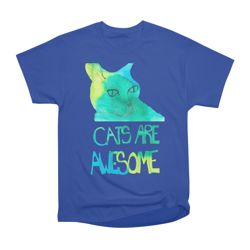 Cats Are Awesome Women's Classic Unisex T-Shirt by Eli Trier Artist's Shop