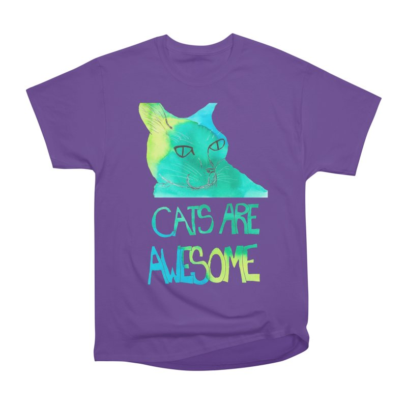 Cats Are Awesome Men's Classic T-Shirt by Eli Trier Artist's Shop