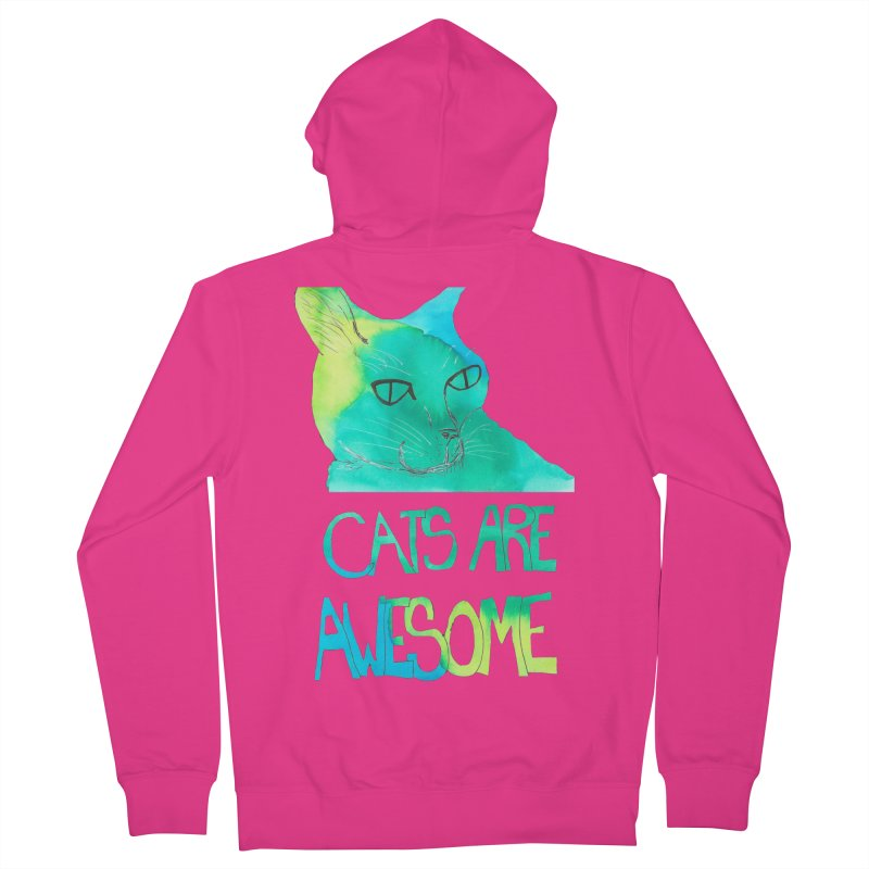 Cats Are Awesome Men's Zip-Up Hoody by Eli Trier Artist's Shop