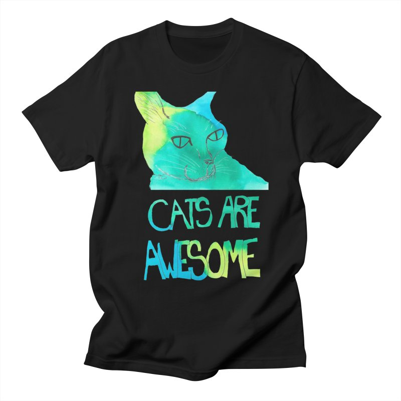 Cats Are Awesome Men's T-shirt by Eli Trier Artist's Shop