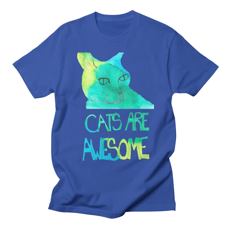 Cats Are Awesome Women's Unisex T-Shirt by Eli Trier Artist's Shop