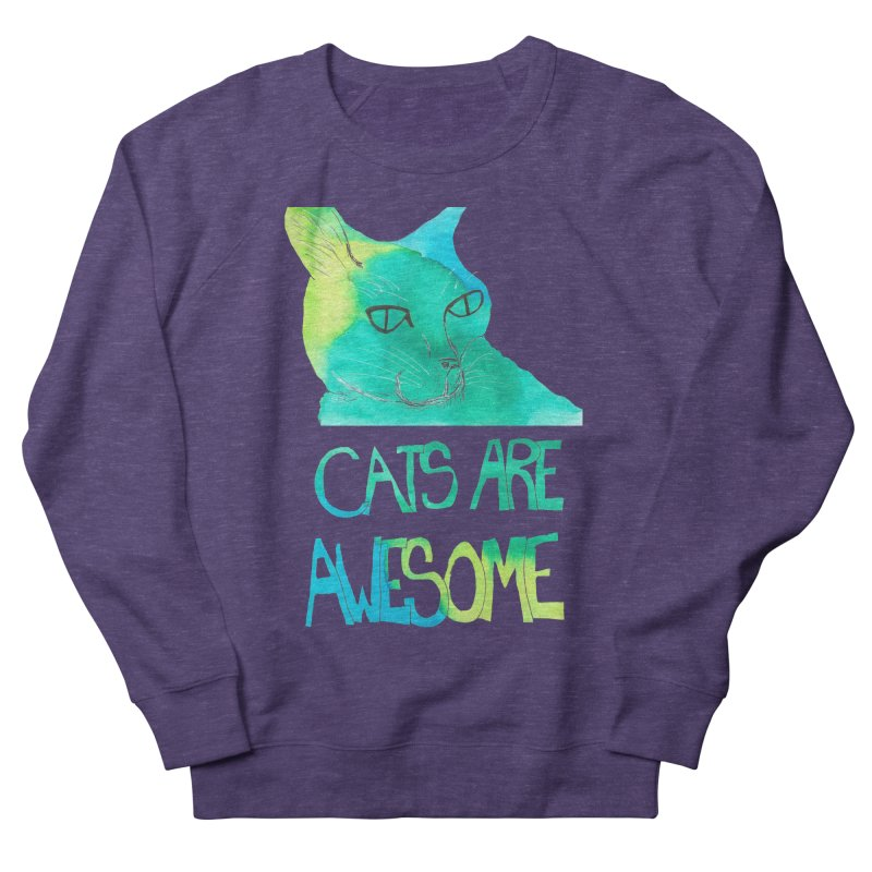 Cats Are Awesome Women's Sweatshirt by Eli Trier Artist's Shop