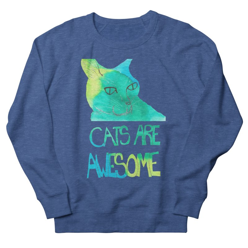 Cats Are Awesome Men's Sweatshirt by Eli Trier Artist's Shop