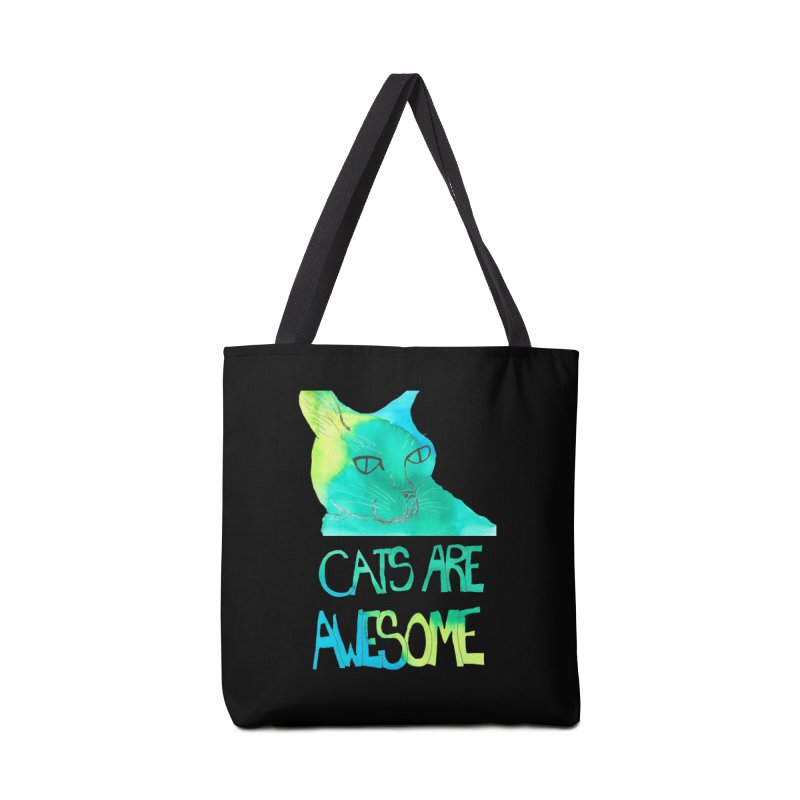 Cats Are Awesome Accessories Bag by Eli Trier Artist's Shop