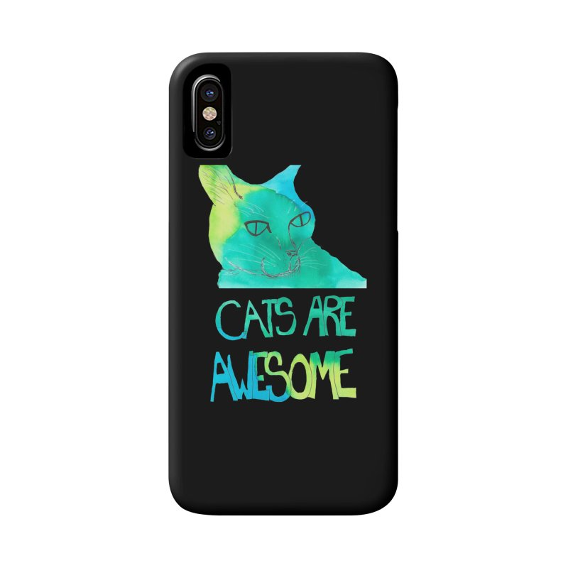 Cats Are Awesome Accessories Phone Case by Eli Trier Artist's Shop