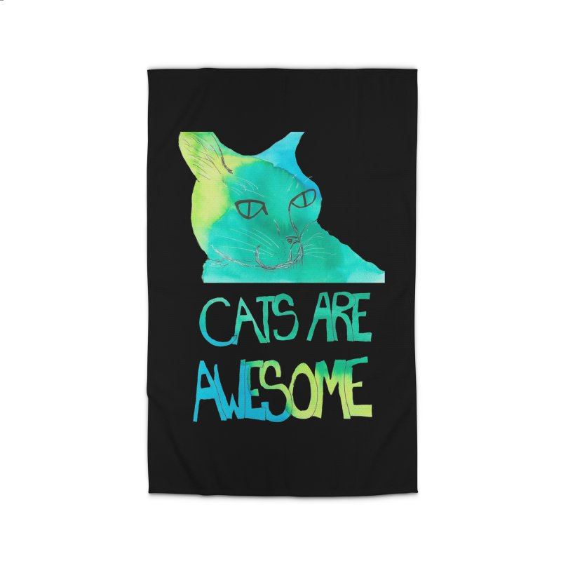 Cats Are Awesome Home Rug by Eli Trier Artist's Shop