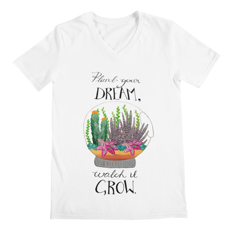 Plant Your Dream Men's V-Neck by Eli Trier Artist's Shop
