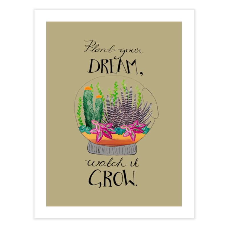 Plant Your Dream Home Fine Art Print by Eli Trier Artist's Shop