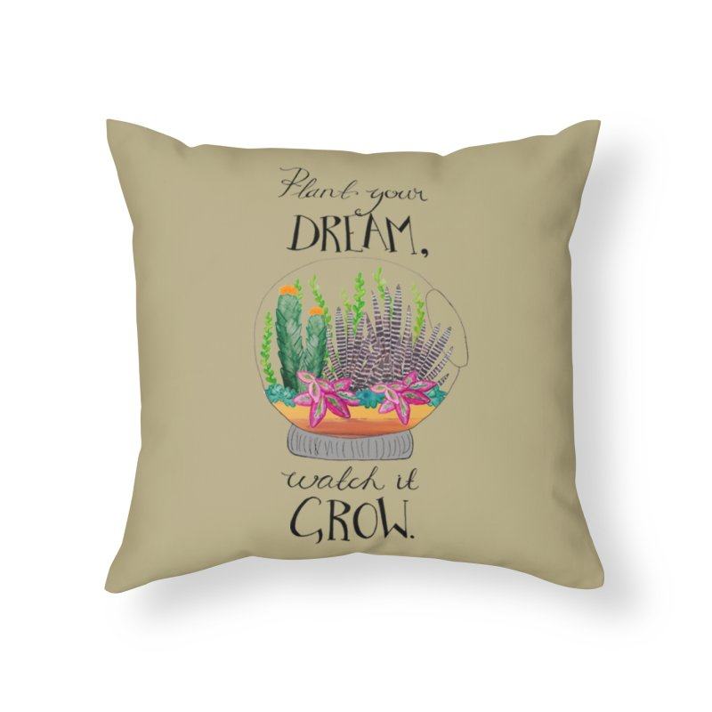 Plant Your Dream Home Throw Pillow by Eli Trier Artist's Shop