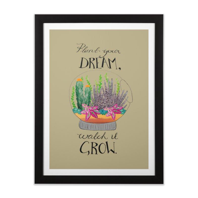 Plant Your Dream Home Framed Fine Art Print by Eli Trier Artist's Shop