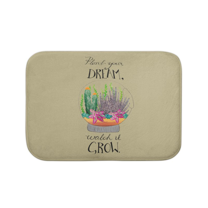 Plant Your Dream Home Bath Mat by Eli Trier Artist's Shop