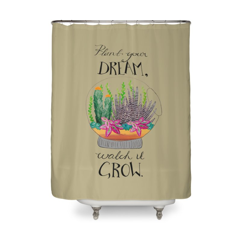Plant Your Dream Home Shower Curtain by Eli Trier Artist's Shop