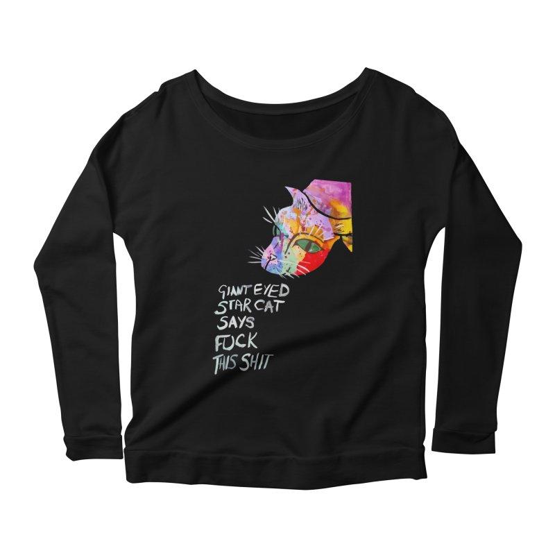 Star Cat Women's Longsleeve Scoopneck  by Eli Trier Artist's Shop