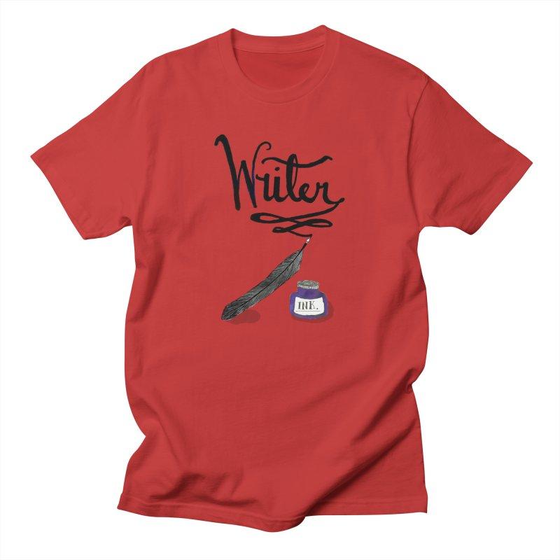 Writer Men's T-Shirt by Eli Trier Artist's Shop