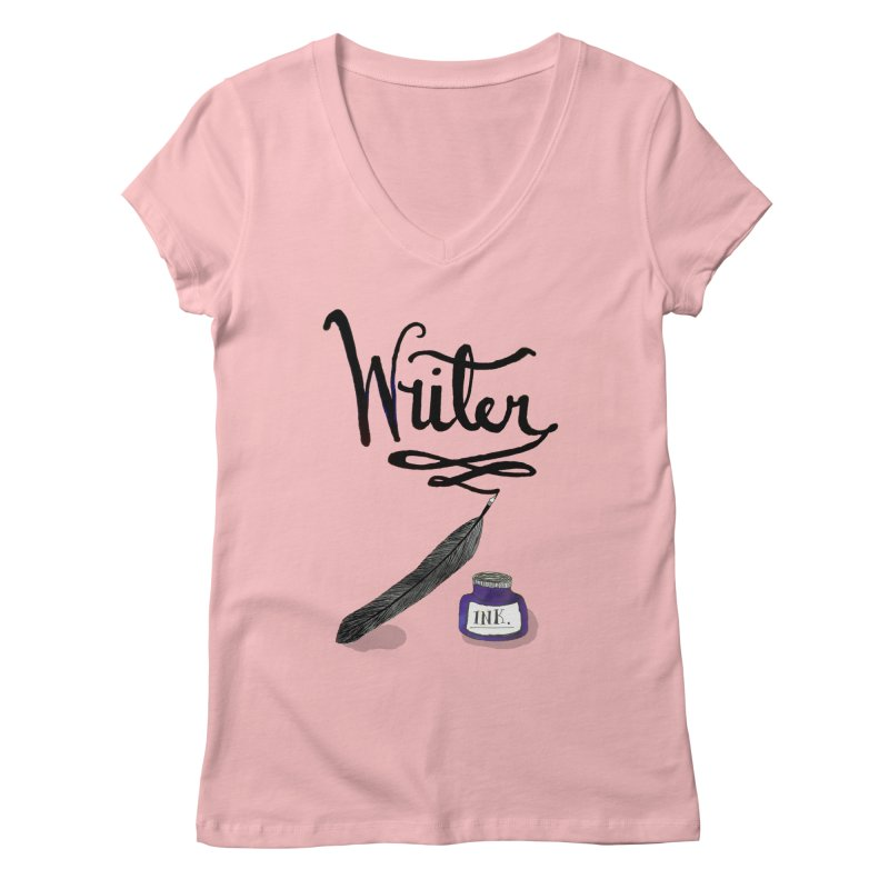 Writer Women's V-Neck by Eli Trier Artist's Shop