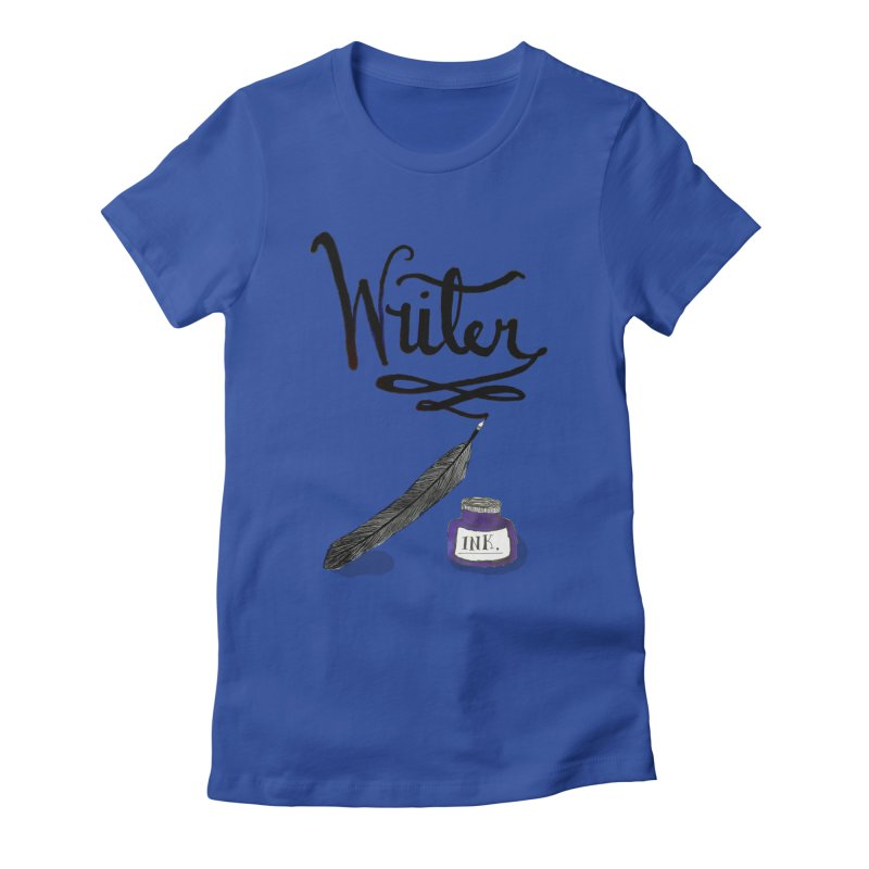 Writer Women's Fitted T-Shirt by Eli Trier Artist's Shop
