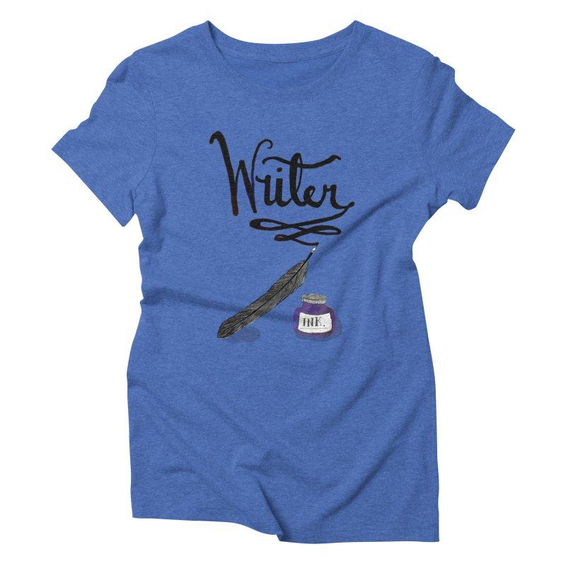 Writer Women's Triblend T-Shirt by Eli Trier Artist's Shop