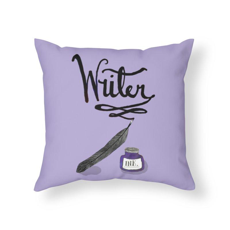 Writer Home Throw Pillow by Eli Trier Artist's Shop