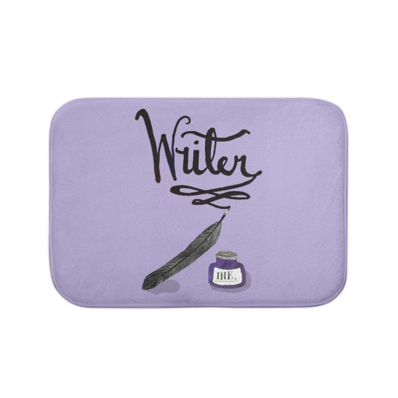 Writer Home Bath Mat by Eli Trier Artist's Shop