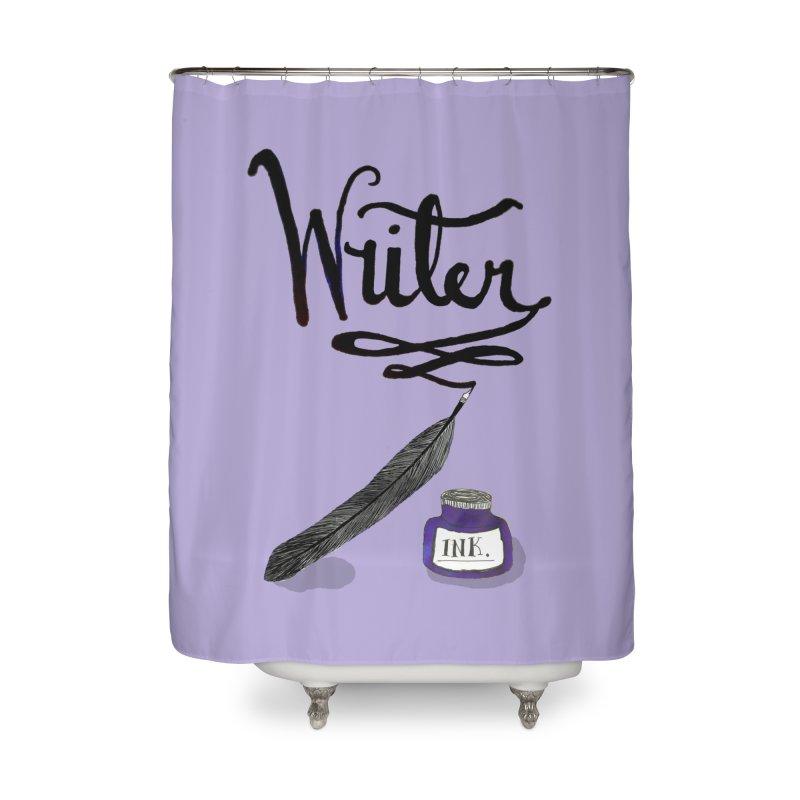 Writer Home Shower Curtain by Eli Trier Artist's Shop