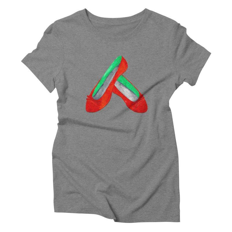 Red Shoes Women's Triblend T-Shirt by Eli Trier Artist's Shop